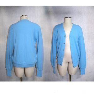 VTG 80s London Fog Golf Sweater Grandpa Cardigan